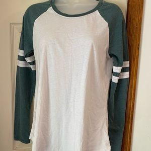 Z Supply Green and white Ragland Tee Small